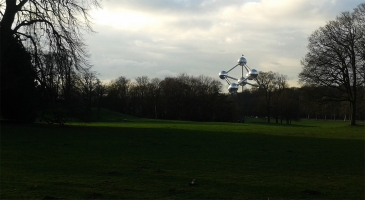 Laeken park and the Atomium