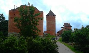 Magoro Graphics Castle of Sigulda, Latvia. Travel stories