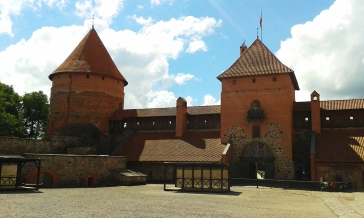 Travel stories Castle in Trakkai, Lithuania. Magoro graphics