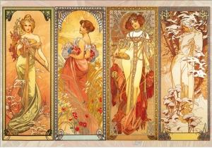 """""""Seasons"""" by Alphonse Mucha"""
