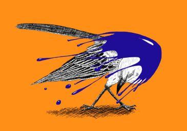 """Inked mockingbird"" by Mario Alberto González Robert Magoro Graphics"