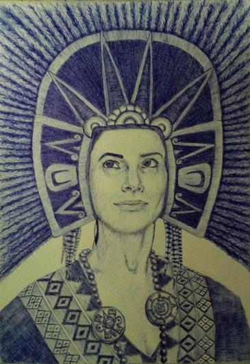 """Prehispanic portrait"" by Mario Alberto González Robert"