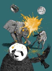 Inked animals illustration by Mario Alberto González Robert Magoro Graphics