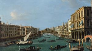 """The grand canal"" by Antonio Canaletto"