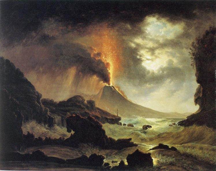 """Eruption of Vesuvius"" by Johan Christian Dahl"