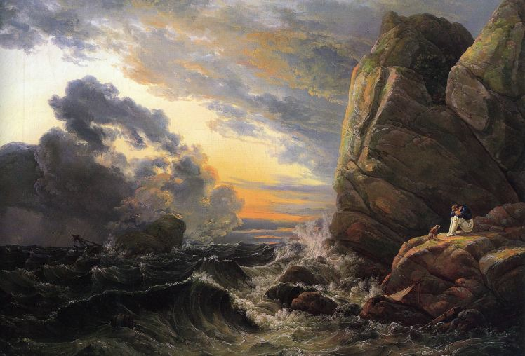 """""""Morning after stormy night"""" by Johan Christian Dahl"""