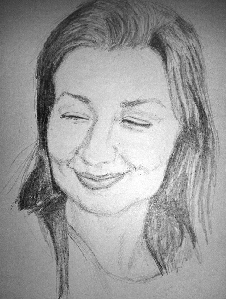Girl portrait sketch by Mario Alberto González Robert