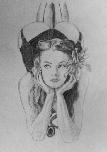 Girl sketch by Mario Alberto González Robert
