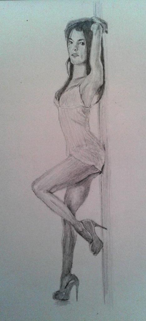 Girl sketch by Mario Alberto González Robert