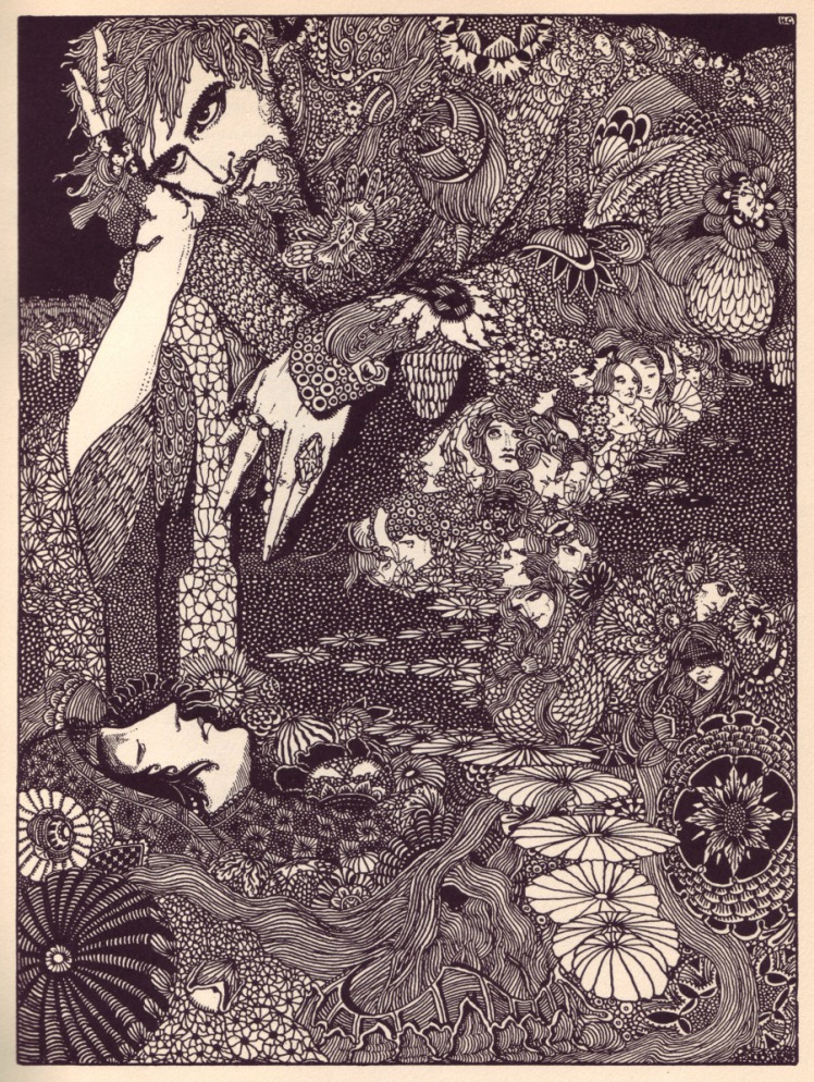 Illustration for Edgar Allan Poe's book by Harry Clarke