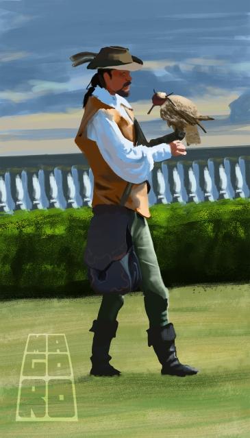 """The birdman"" study by Mario Alberto González Robert"