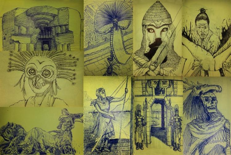 Sketches by Mario Alberto González Robert
