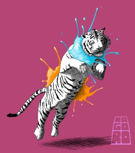 Inked tiger by Mario Alberto González Robert Magoro Graphics