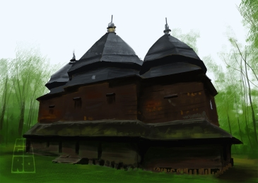 """Wooden church"" by Mario Alberto González Robert"