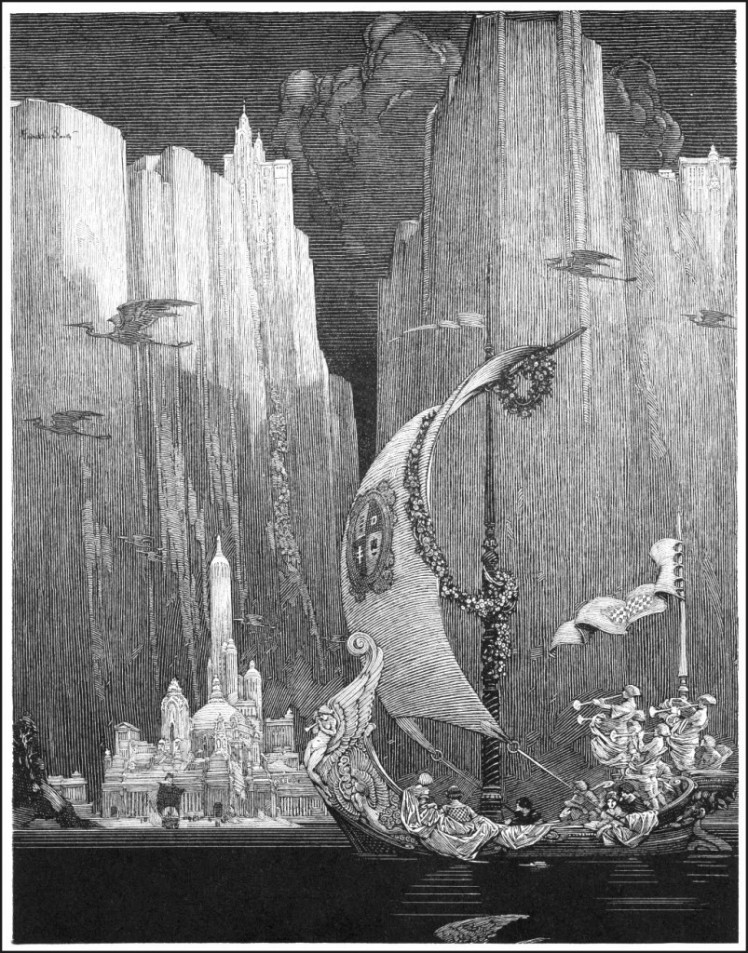 """""""Echoes"""" by Franklin Booth"""