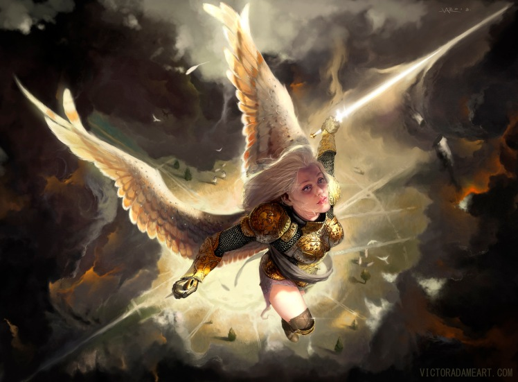 """Angelic retribution"" by Víctor Adame"