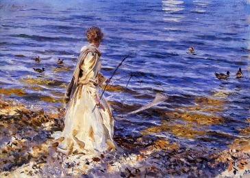 """Girl fishing"" by John Singer Sargent"