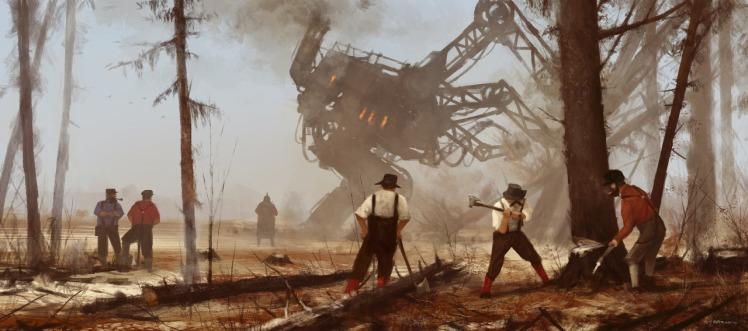 """1920 machine over muscle"" by Jakub Rozalski"