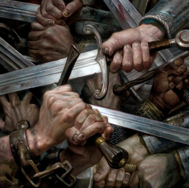 """A storm of Swords"" by Donato Giancola"
