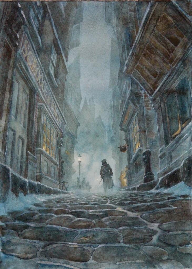 """""""A christmas carol"""" by PJ Lynch"""
